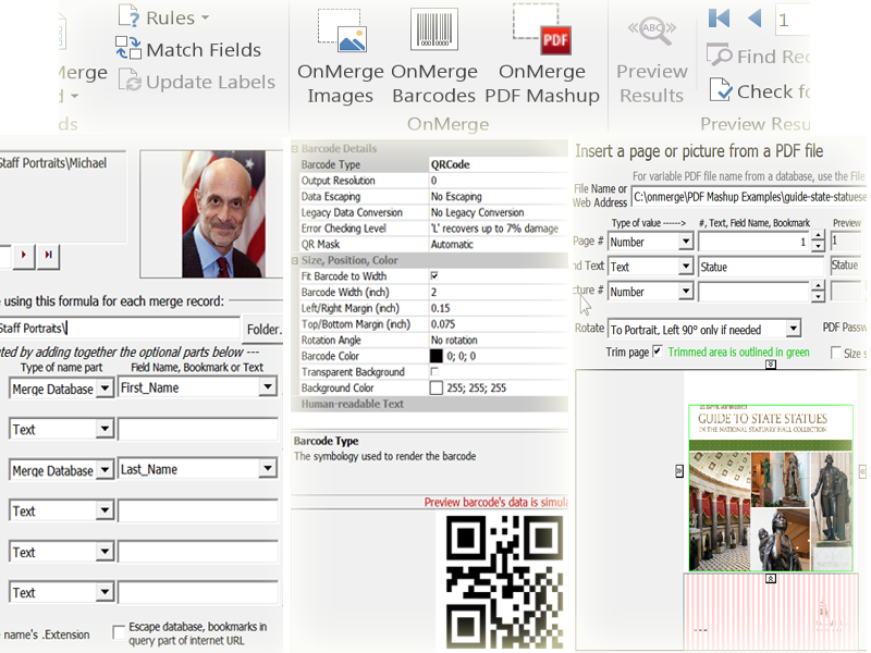 OnMerge Images+Barcodes full screenshot